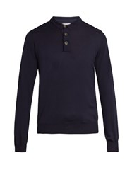 Brunello Cucinelli Wool And Cashmere Blend Sweater Navy