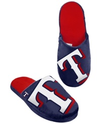 Forever Collectibles Men's Texas Rangers Big Logo Slippers