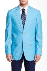Perry Ellis Blue Chambray Two Button Notch Lapel Sport Coat