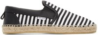 Jimmy Choo Black And White Canvas Vlad Espadrilles