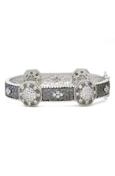 Freida Rothman Women's 'Contemporary Deco' Pave Hinge Bangle