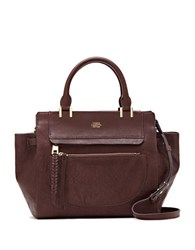 Vince Camuto Ayla Colorblock Leather Satchel Dark Red