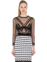 Dagda Sheer Tulle And Lace Top