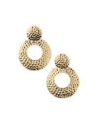 Rj Graziano R.J. Graziano Hammered Golden Drop Earrings