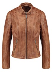 Gipsy Rica Lapav Leather Jacket Toffee Light Brown