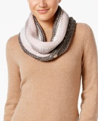 Betsey Johnson Crystal Knit Infinity Scarf Blush