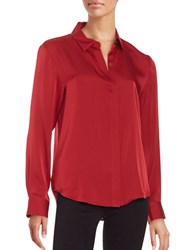 Dkny Button Front Top Red