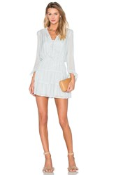 Hoss Intropia Long Sleeve V Neck Mini Dress Mint