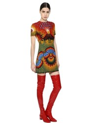 Valentino Volcano Wool And Silk Crepe Couture Dress