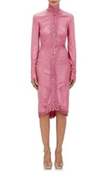 Resee Women's 2001 Saint Laurent Ruched Satin Dress Pink