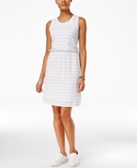 G.H. Bass And Co. Striped Sleeveless Dress White Combo
