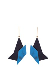 Stella Mccartney Abstract Shaped Earrings Blue