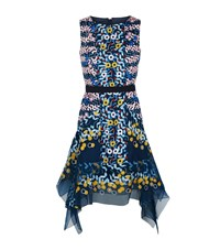 Peter Pilotto Embroidered Organza Dress Female Navy