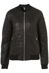 Croc Quilted Bomber Jacket Topshop