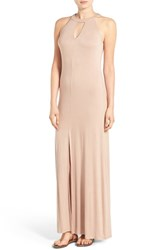 Women's Mimi Chica High Neck Maxi Dress Beige