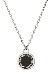 Marc Jacobs Logo Disc Necklace Silver