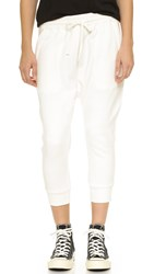 Nlst Zip Pocket Knit Harem Sweatpants White