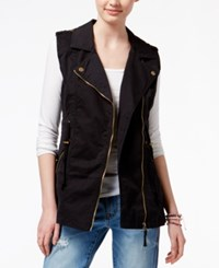American Rag Color Denim Zipper Front Vest Only At Macy's Black