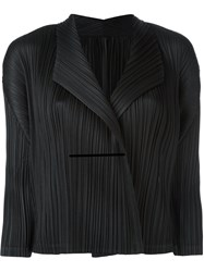 Issey Miyake Pleats Please By Wrap Detail Cropped Jacket Black