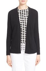 Kate Spade Women's New York Cotton And Cashmere Open Cardigan Black