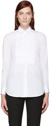 Saint Laurent White Poplin Tuxedo Shirt