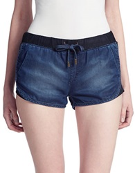Dittos Denim Drawstring Shorts Blue
