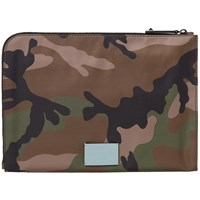 Valentino Classic Camouflage Document Case Green