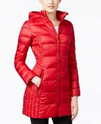 32 Degrees Packable Down Hooded Puffer Coat Only At Macy's Carmine Red