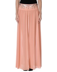 Pinko Skin Skirts Long Skirts Women Apricot