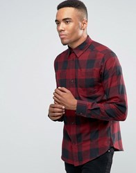 D Struct Bold Check Shirt Red
