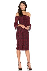 Cynthia Rowley Lace Off The Shoulder Dress Red