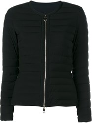 Moncler Collarless Quilted Jacket Black