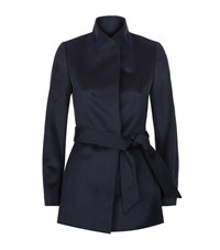 Reiss Reema Belted Jacket Female Blue