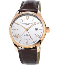 Frederique Constant Fc350v5b4 Rose Gold Plated Stainless Steel Watch White