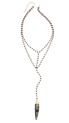 Heather Hawkins Double Y Necklace Garnet Mix