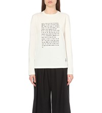 J.W.Anderson Jw Anderson Shakespeare Ophelia Print Cotton Sweatshirt Off White