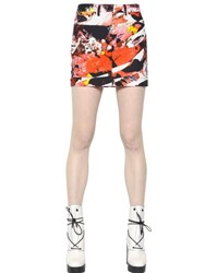 Kenzo Mineral Printed Cotton Twill Mini Skirt