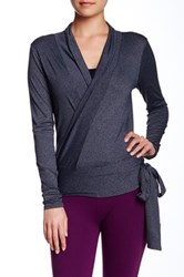 Beyond Yoga Ballet Wrap Cardigan Gray