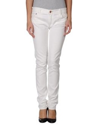 Care Label Denim Pants White
