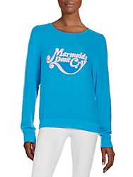 Wildfox Couture Mermaids Don't Cry Graphic Sweatshirt Beach Cool