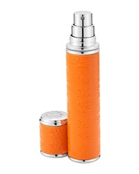 Pocket Atomizer In Orange Leather With Silver Trim 10 Ml Creed Orange Silver