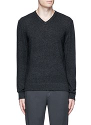 James Perse V Neck Cashmere Sweater Grey