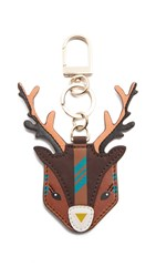 Tory Burch Ruth The Reindeer Key Chain Mystic Brown