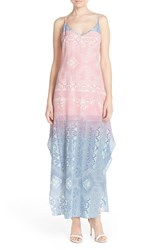 Women's Charlie Jade Ombre Print Silk Maxi Dress