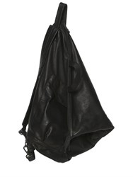 Yohji Yamamoto Triangular Leather Backpack