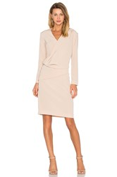 Cacharel Silk Pleat Dress Beige