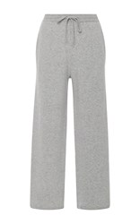 Joseph Drawstring Wool Cropped Pants Light Grey