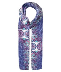 Bindya Lulla By Mixed Print 4 Blue Scarves