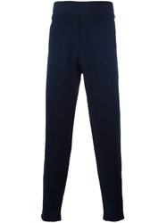 A.P.C. Ribbed Waistband Sweatpants Blue