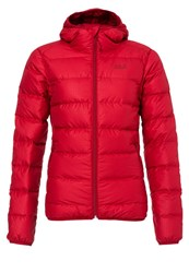 Jack Wolfskin Helium Stardust Down Jacket Indian Red